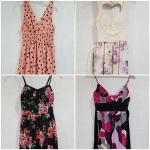 Lot / bundle of 4 Women's Dresses Juniors Small